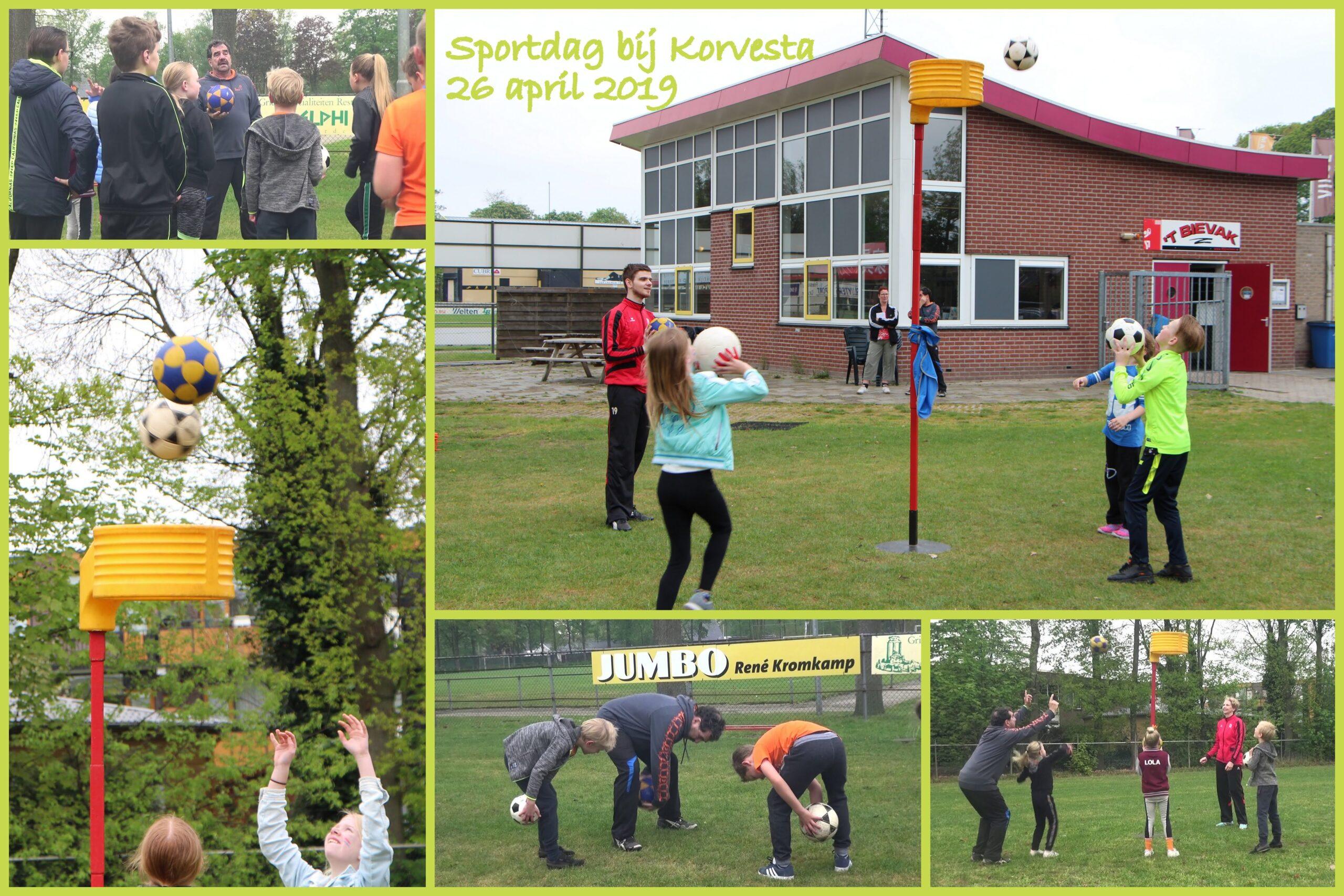 Collage Sportdag bij Korvesta